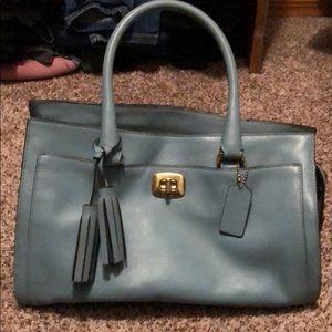Coach eggshell handbag